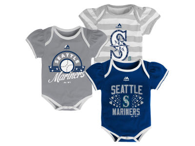 Seattle Mariners MLB Newborn Girls TP Bodysuit Set