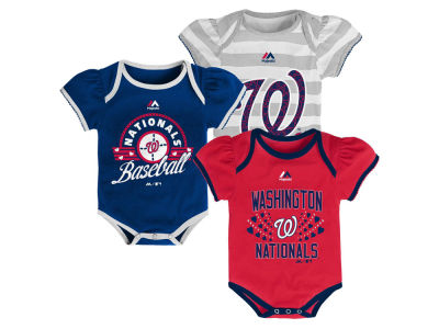 Washington Nationals MLB Newborn Girls TP Bodysuit Set