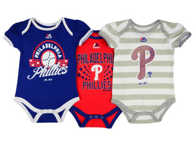 Philadelphia Phillies MLB Newborn Girls TP Bodysuit Set