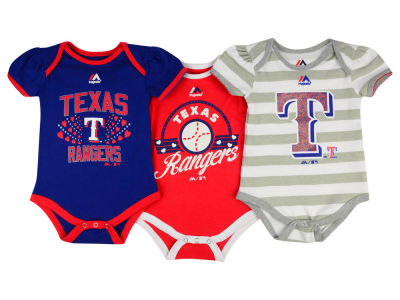 Texas Rangers MLB Newborn Girls Bodysuit Set
