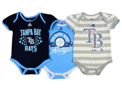 Tampa Bay Rays MLB Newborn Girls TP Bodysuit Set