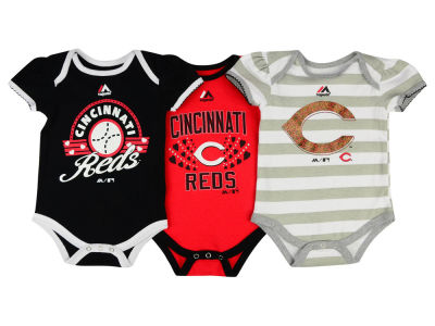 Cincinnati Reds MLB Newborn Girls Bodysuit Set