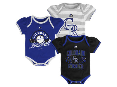 Colorado Rockies MLB Newborn Girls TP Bodysuit Set