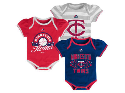 Minnesota Twins MLB Newborn Girls TP Bodysuit Set
