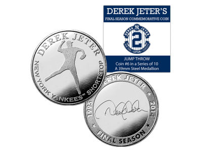 New York Yankees Derek Jeter Highland Mint Derek Jeter Retirement Minted Coin