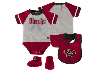 Arizona Diamondbacks MLB Newborn LP Creeper Bib and Bootie Set