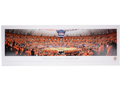 Illinois Fighting Illini Blakeway Unframed Basketball Panoramic Photo