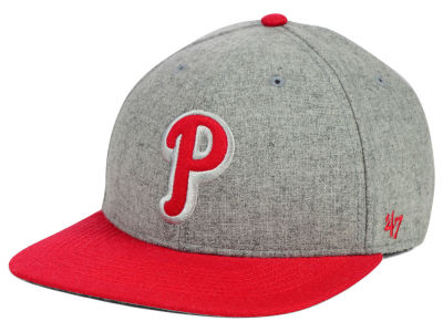 Philadelphia Phillies '47 MLB Coop Gray Hoffman '47 Pro Fitted Cap