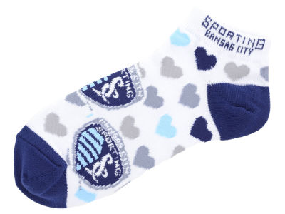 Sporting Kansas City Lady Heart Logo Repeat Sock