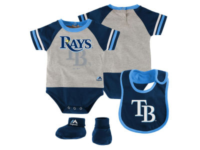 Tampa Bay Rays MLB Newborn LP Creeper Bib and Bootie Set