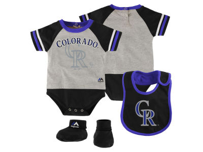 Colorado Rockies MLB Newborn LP Creeper Bib and Bootie Set