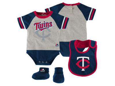 Minnesota Twins MLB Newborn LP Creeper Bib and Bootie Set
