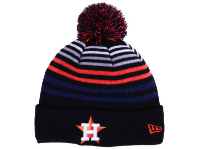 Houston Astros New Era MLB Blackout Stripe Pom Knit