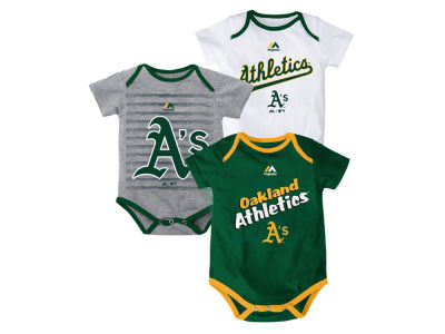 Oakland Athletics MLB Newborn  TP 3-Piece Set