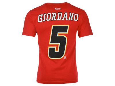 Calgary Flames Mark Giordano Reebok NHL CN Player T-Shirt