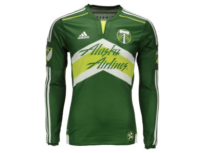Portland Timbers adidas MLS Men's Long Sleeve Primary Authentic Jersey
