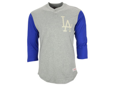 Los Angeles Dodgers Mitchell & Ness MLB Men's In the Clutch Henley Shirt