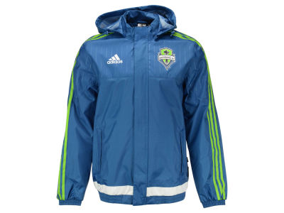 Seattle Sounders FC adidas MLS Men's Rain Jacket II
