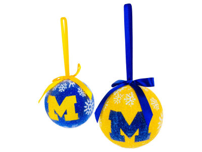 Michigan Wolverines LED Boxed Ornament Set