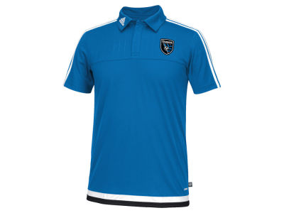 San Jose Earthquakes adidas MLS Men's Game Wear Polo Shirt