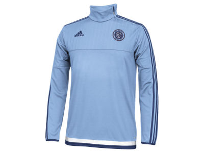 New York City FC adidas MLS Men's Pre-Game Training Long Sleeve Shirt