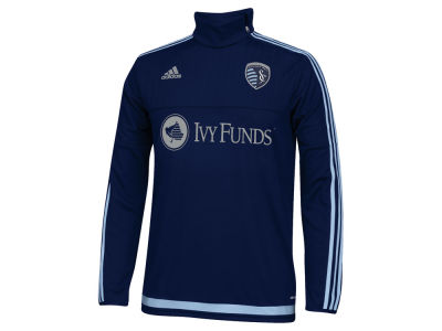 Sporting Kansas City adidas MLS Men's Pre-Game Training Long Sleeve Shirt