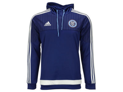 New York City FC adidas MLS Men's Pullover Travel Hoodie