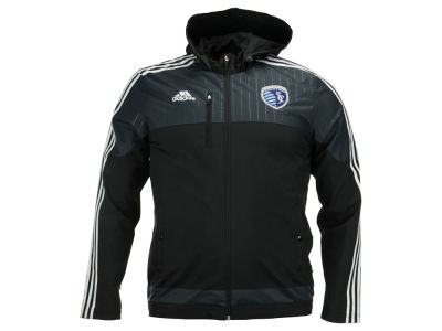 Sporting Kansas City adidas MLS Men's Coaches Sideline Jacket