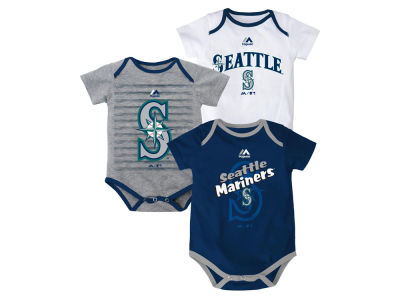 Seattle Mariners MLB Newborn  TP 3-Piece Set