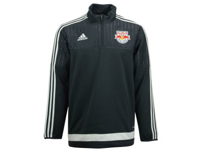 New York Red Bulls adidas MLS Men's Half Zip PO Training Fleece LM15