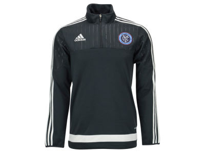 New York City FC adidas MLS Men's Half Zip PO Training Fleece LM15