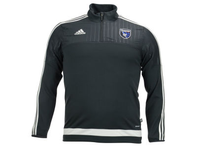 San Jose Earthquakes adidas MLS Men's Half Zip PO Training Fleece LM15