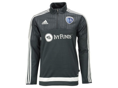 Sporting Kansas City adidas MLS Men's Half Zip PO Training Fleece LM15