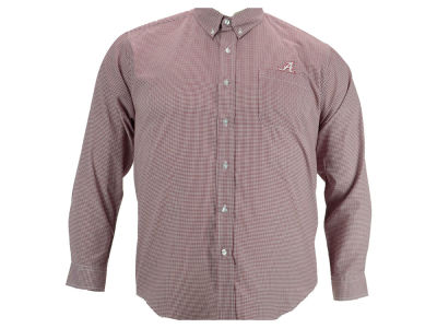 Alabama Crimson Tide NCAA Men's PM Gingham Woven Button Up Shirt