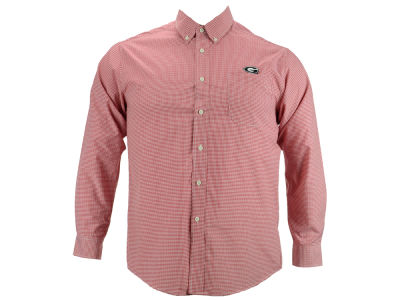 Georgia Bulldogs NCAA Men's PM Gingham Woven Button Up Shirt
