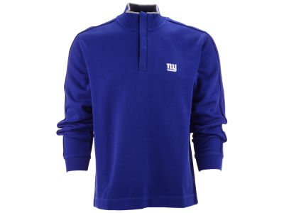 New York Giants NFL Men's Fulltime Pima Snap Placket Overknit Pullover