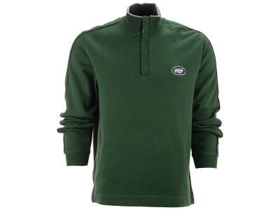 New York Jets NFL Men's Fulltime Pima Snap Placket Overknit Pullover
