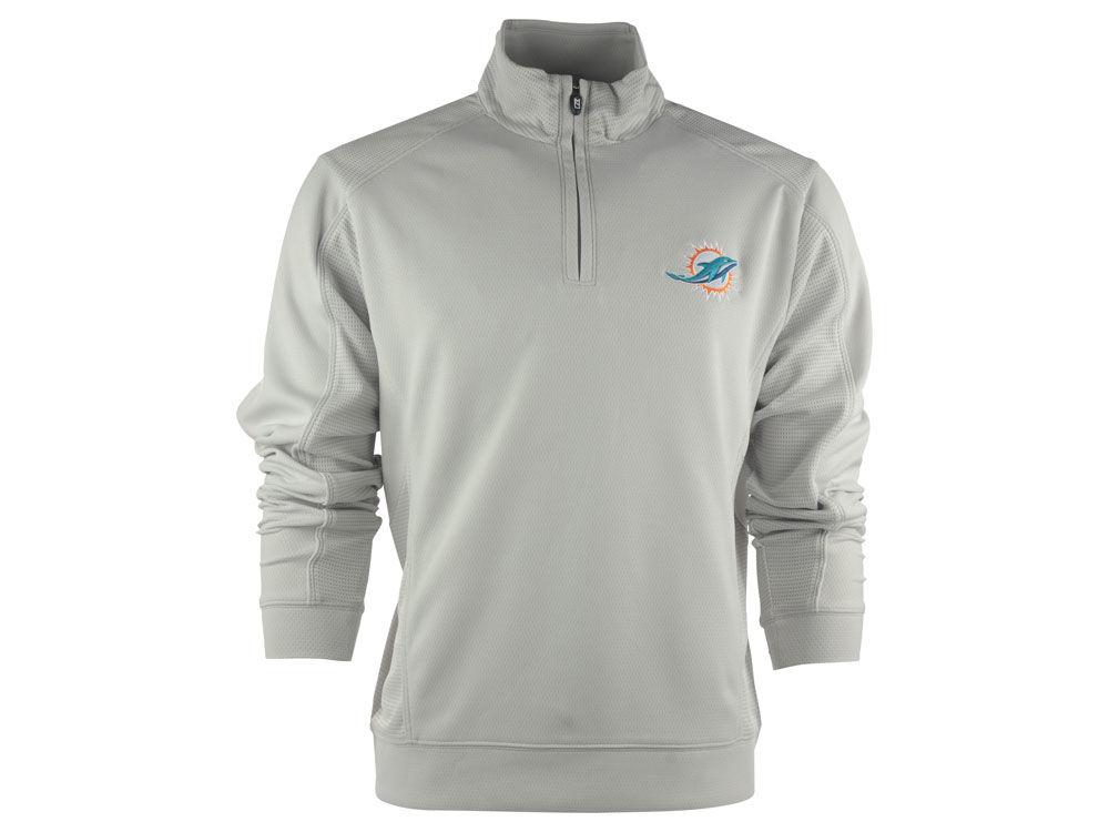 c898dde71 Miami Dolphins Cutter   Buck NFL CB DryTec Edge Half Zip Jacket ...