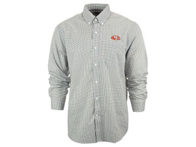 San Francisco 49ers NFL Men's Epic Easy Care Tattersall Button Up Shirt