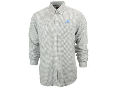 Detroit Lions NFL Men's Epic Easy Care Tattersall Button Up Shirt