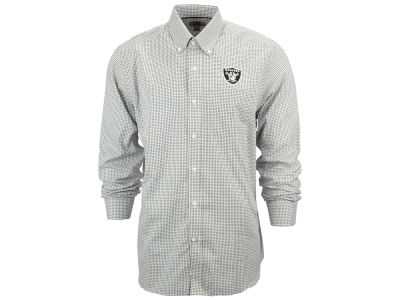 Oakland Raiders NFL Men's Epic Easy Care Tattersall Button Up Shirt