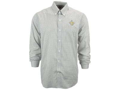 New Orleans Saints NFL Men's Epic Easy Care Tattersall Button Up Shirt