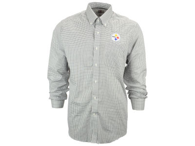 Pittsburgh Steelers NFL Men's Epic Easy Care Tattersall Button Up Shirt