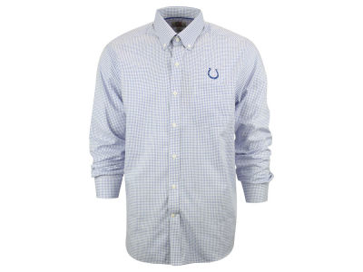 Indianapolis Colts NFL Men's Epic Easy Care Tattersall Button Up Shirt