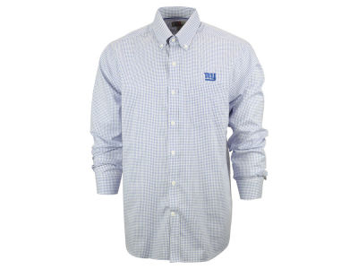 New York Giants NFL Men's Epic Easy Care Tattersall Button Up Shirt