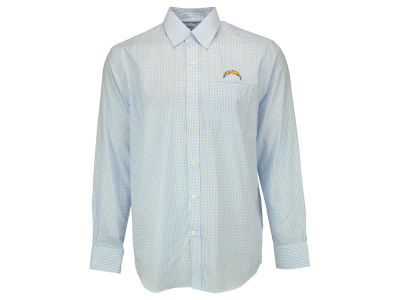 San Diego Chargers NFL Men's Epic Easy Care Tattersall Button Up Shirt