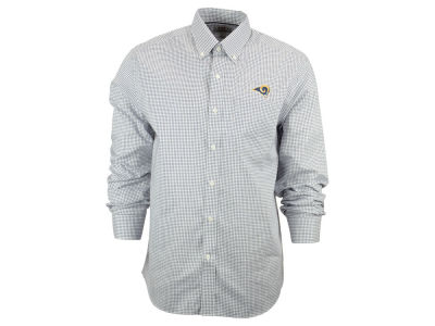 Los Angeles Rams NFL Men's Epic Easy Care Tattersall Button Up Shirt