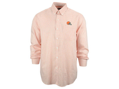 Cleveland Browns NFL Men's Epic Easy Care Tattersall Button Up Shirt