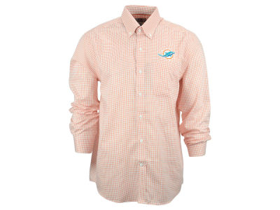 Miami Dolphins NFL Men's Epic Easy Care Tattersall Button Up Shirt