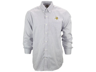 Minnesota Vikings NFL Men's Epic Easy Care Tattersall Button Up Shirt